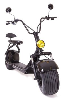 eDrift Electric Fat Tire Scooter Moped with Shocks Hub Motor Harley E-Bike (Black, 20 Miles Range) Best Electric Scooter, Electric Tricycle, Street Legal Moped, Car Ins, Monitor, Fat, Scooters, Matte Black, Eletric Bike