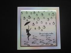 Watercoloured background, Raindrop stamp from Designs by Ryn and Inkylicious stamps