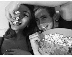 ♡ On Pinterest @ kitkatlovekesha ♡ ♡ Pin: Relationship ~ Popcorn Eating Couple ♡