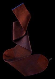William Abraham - Luxury Socks for Men ● RUST / COBALT