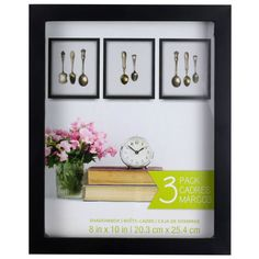 <div>Showcase your favorite items as art! This multi-pack includes three shadowboxes to create a...