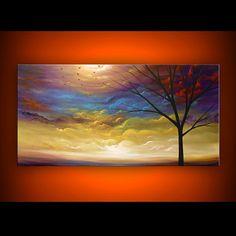 art original painting tree painting art abstract art by mattsart, $375.00