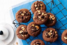 Peanut butter and dark chocolate cookies