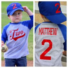 2nd Birthday Baseball Shirt, Baseball Shirt, First Birthday Baseball Shirt, Boys Baseball Shirt, Baseball Shirt