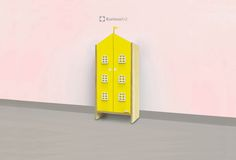 CocoMoco Kids Kuriouskid House Cupboard : Yellow Home is not a place… its a feeling, let the kids have a special love for the cupboard so it doesn't become the place to dump things and used to keep thing organized in it.