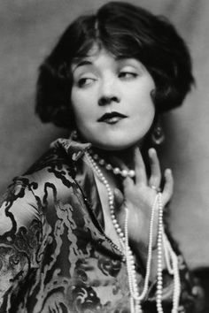 MARIE PREVOST  With her huge, expressive eyes and curly crop, Canadian-born silent era superstar Marie Prevost typified the jazz age flapper.  Her performance in The Beautiful and Damned established her in the industry, but personal tragedies led to her early death at 38.