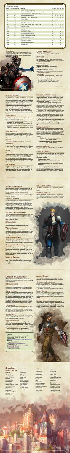 Post with 6010 views. [Class] Feedback wanted on Fantasy Captain America Class Dungeons And Dragons Rules, Dungeons And Dragons Classes, Dnd Dragons, Dungeons And Dragons Characters, Dungeons And Dragons Homebrew, Dnd Characters, Dnd Stats, Dungeon Master's Guide, Dnd Classes