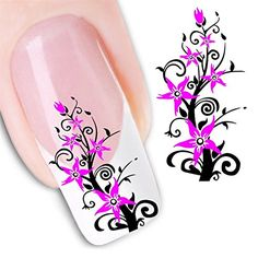 Nicedeco - 1pack New Products Colorful Nail Stickers Nail Tattoo Sticker Flowers Fashion Nail Stickers/Tattoo/Deacl Water Transfers Decals BE288 > Trust me, this is great! : Beauty products 99 cent