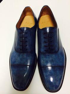 Vittorio spernanzoni blue ocean anticated shoes
