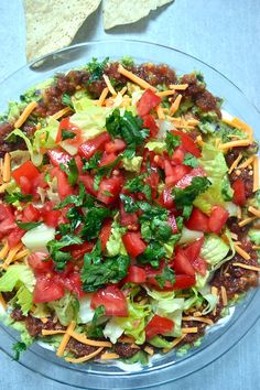 seven-layer dip with guacamole