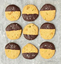 Dark Chocolate, Pistachio & sea salt biscuits More