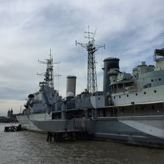 The view from the exit of the HMS Belfast in London, England...