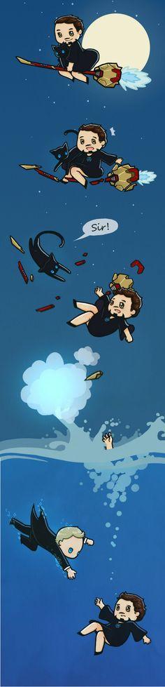 Stark siendo salvado .... (ToT)/~~~