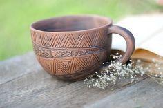 Hand Made Ceramic Eco-Friendly Tea Cup Hand Carved