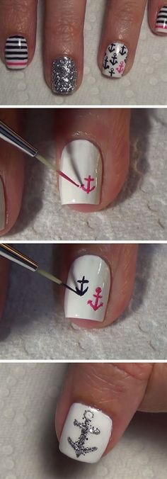 Terrific Nautical Nail Art | 18 Easy Summer Nails Designs for Summer | Cute Nail Art Ideas for Teens Nail Design, Nail Art, Nail Salon, Irvine, Newport Beach  The post  Nautical Nail Art | 18 Easy Summer Nails Designs for Summer | Cute Nail Art Idea…  appeared first on  Nails .