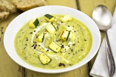Courgette Soup For the recipe, please visit my blog http://stathisartkitchen.blogspot.com/#!/2013/09/courgette-soup.html