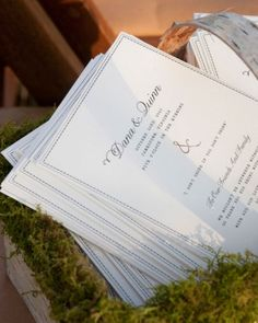 """See the """"Classic White Program"""" in our Classic Wedding Ceremony Programs gallery"""