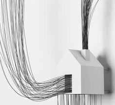Des dessins en trois dimensions avec des fils de fer