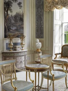 The Gabrielli room in  Lyons Demesne  estate  Co. Kildare Ireland - Love the Geo III cabinet! grey