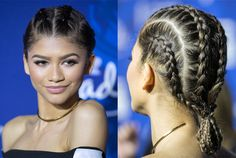 Zendaya with Two French Braids | Hairspiration: 25 Celebrity Braiding Styles To Copy This Spring