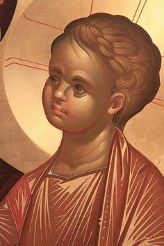 Ο Κύριος Orthodox Icons, Portrait Drawing, Byzantine Art, Learn Art, Face Icon, Art, Best Icons, Catholic Art, Sacred Art
