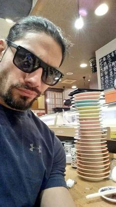 Roman Reigns is done eating sushi Wwe Superstar Roman Reigns, Wwe Roman Reigns, Dean Ambrose Shield, Roman Reigns Family, Chris Martin Coldplay, Roman Regins, Catch, Wwe World, Total Divas