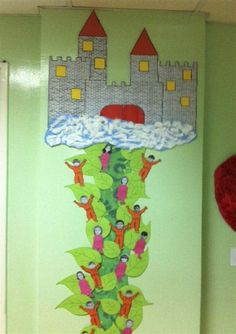 Jack and the Beanstalk. The whole class up the beanstalk!