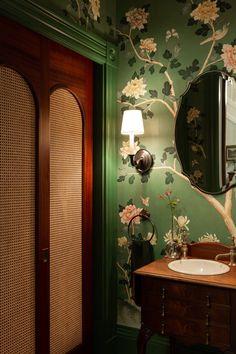 BackBay Brownstone — * jae Joo Designs * Bathroom Trends, Bathroom Ideas, Amber Interiors, Bathroom Design Small, Bathroom Designs, Small Bathroom Wallpaper, Bathroom Inspiration, Powder Room, Beautiful Homes