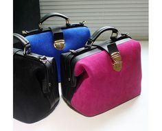 NEW IN Suede versions -LONA Handbag ( BLACK/BLUE/MEGENTA ) $58.00