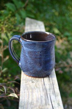 Pottery Mug with Handle Cobalt Blue Glaze NC by Beaverspottery, $16.00