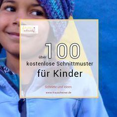 Über 100 kostenlose Schnittmuster für Kinder