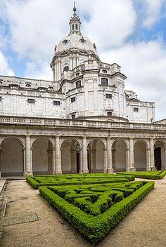 Basilica Dome, Mafra National Palace, Mafra, Lisbon Coast, Portugal.