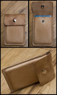 A notebook case that I wet formed from veg tan leather.  Inspired by the Field Notes pony express case.