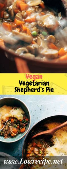 Vegan Vegetarian Shepherd's Pie!!! - Low Recipe