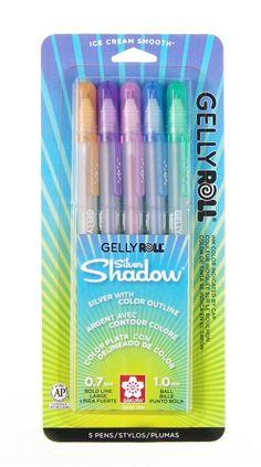 Amazon.com: Sakura 57370 10-Piece Gelly Roll Blister Card Assorted Colors Metallic Gel Ink Pen Set: Office Products