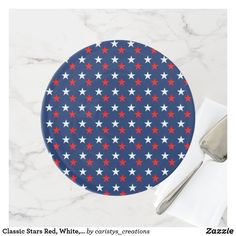 Classic Stars Red, White, Blue Cake Stand Party Plates, Cake Plates, Classic Plates, Seasonal Celebration, Blue Cakes, Kitchen Dishes, Fancy Cakes, Party Accessories, Garden Flags