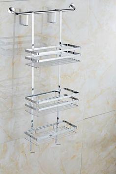 SATINA CHROME HANGING SHOWER CADDY SHELF BASKET TIDY In Home, Furniture U0026  DIY, Bath, Other Bath | EBay | Renovations | Pinterest | Hanging Shower  Caddy, ...