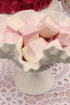 Strawberry and passion fruit marshmallows