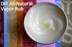 Easy Homesteading: DIY All-Natural Vapor Rub Recipe