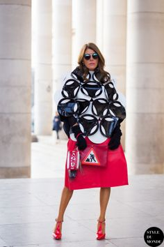 Anna Dello Russo Street Style Street Fashion Streetsnaps by STYLEDUMONDE Street Style Fashion Blog