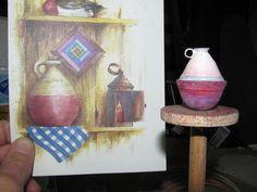 Dollhouse Miniature Furniture - Tutorials | 1 inch minis: Paper Pottery Update