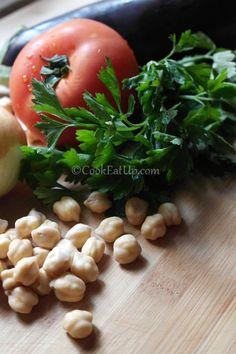 Μελιτζάνες με ρεβύθια, γιαχνί Black Eyed Peas, Vegetables, Food, Essen, Vegetable Recipes, Meals, Yemek, Veggies, Eten