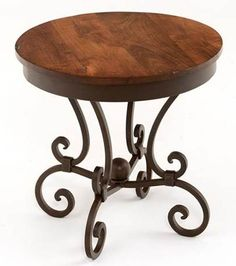 The Mesquite End table design #3 adds a touch of sophistication  and Spanish influence to the mesquite line.