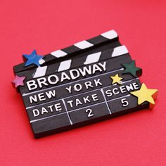 New York Broadway Clapboard Magnet