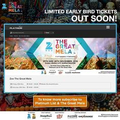 Are you ready for the first edition of Zee The Great Mela? Limited early bird tickets will be released very soon! Subscribe at bit.ly/TGMTickets to get your ticket! . . . . #november #events #eventsinuae #uae #myuae #zeetv #zee #zeetvme #instaDubai #instagood #instafun #BestoftheDay #PicoftheDay #DubaiLife #MyDubai #dubai #India #mydxb #dxb #comingsoon #thegreatmela #party #dubaievents #music #food #shopping #celebrations #celebrate