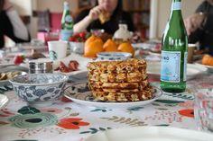 waffle party via tea & cookies (yeasted buckwheat waffle recipe)