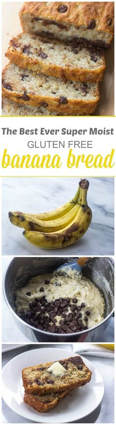 Your going to love this Super Moist Gluten FREE Banana Bread baked with Bob& Red Mill gluten free flour. Your going to love this Super Moist Gluten FREE Banana Bread baked with gluten free flour. Gluten Free Deserts, Gluten Free Sweets, Gluten Free Breakfasts, Gluten Free Flour, Foods With Gluten, Gluten Free Cooking, Dairy Free Recipes, Vegan Gluten Free, Bread Recipes