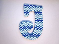 Hand Painted Wooden Letters. $15.00, via Etsy.