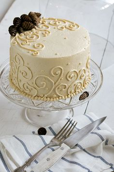 Sweet Potato Ginger Spice Cake with Toasted Marshmallow Filling and Brown Sugar Maple Buttercream