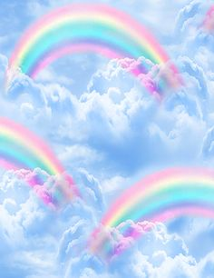Rain Clouds, Sky And Clouds, Rainbow Cloud, Over The Rainbow, Cotton Quilts, Cotton Fabric, Cloud Fabric, Timeless Treasures Fabric, Buy Fabric